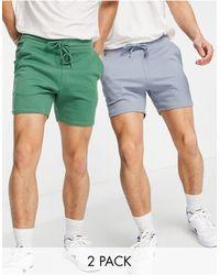 ASOS Skinny Jersey Shorts - Green