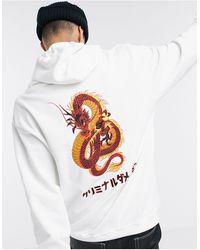 Criminal Damage Dragon Hoodie - White