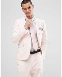 ASOS Wedding Skinny Suit Jacket - Pink