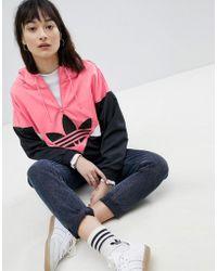 adidas Originals - Colorado Panelled Windbreaker Jacket In Black And Pink - Lyst