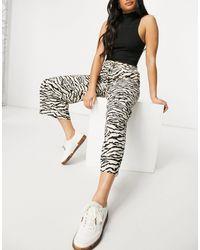 SELECTED Femme - Gonna pantalone con stampa animalier, colore neutro - Multicolore