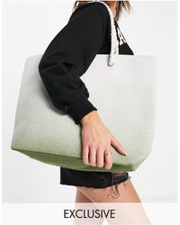 South Beach Beach Bag In Ombre Mint - Green