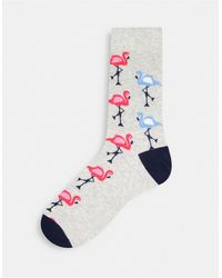 Jack & Jones - Набор Из 5 Пар Разноцветных Носков С Принтами Фламинго -multi - Lyst