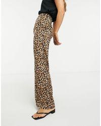 Glamorous - Pantalon large décontracté à imprimé léopard - Lyst