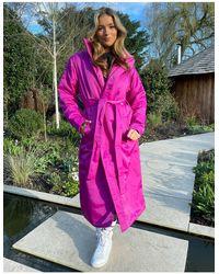 Nike Розовая Куртка-парка С Логотипом -розовый Цвет