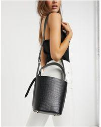 Reiss Hudson - Mini Bucket Bag - Zwart