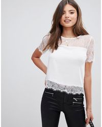 Lipsy Lace Top - White