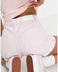 Vero Moda Shorts vaqueros mom lilas - Morado