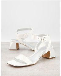 ASOS Hope Block Heeled Sandals - White