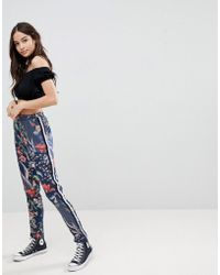 Glamorous - Floral Joggers With Side Stripe - Lyst