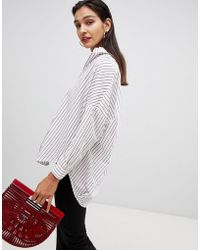 French Connection - Oversized Striped Shirt - Lyst