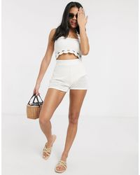 ASOS Two-piece Crochet Knitted Shorts - Multicolour