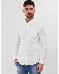 Burton – Langärmliges Oxfordhemd - Weiß