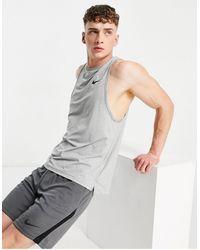 Nike Топ Без Рукавов Dry-многоцветный - Серый