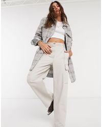 Object Longline Wool Shirt - Grey