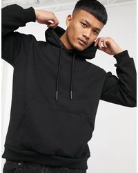 Only & Sons Oversized Hoodie With Dragon Back Print - Black