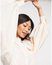 Y.A.S Кремовая Рубашка С Объемными Рукавами И Складками -белый - Многоцветный