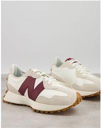 New Balance 327 - sneakers sporco e bordeaux - Bianco