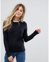 Oasis - Ribbed Crew Neck Jumper - Lyst