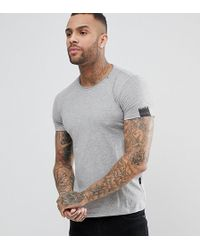 Replay - Loose Neck T-shirt Grey - Lyst