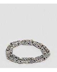 Seven London - Detailed Chain Bracelet In Sterling Silver - Lyst
