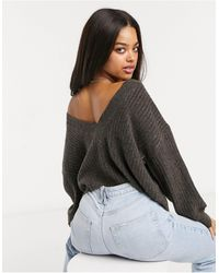 Pieces - Co Ord Jumper With Low Back - Lyst