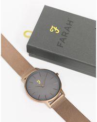 Farah Часы С Узким Сетчатым Браслетом -золотистый - Металлик