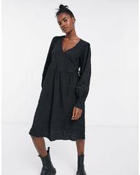 Noisy May - Черное Фактурное Платье -черный Цвет - Lyst