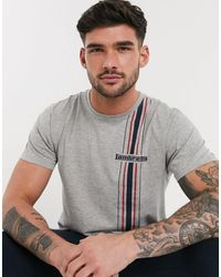 Lambretta Side Stripe T-shirt - Grey