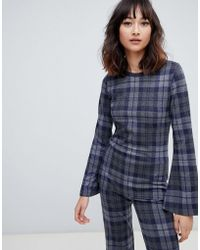 2nd Day - 2ndday Checked Knit Blouse - Lyst