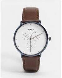 BOSS by Hugo Boss Hugo Boss – Essential – Uhr mit silbernem Zifferblatt - Braun