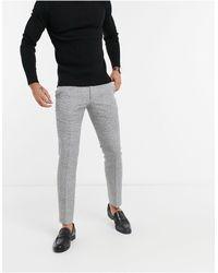 Moss Bros Moss London - Slim-fit Pantalon - Zwart