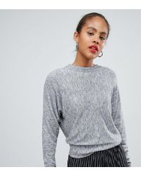 fbcf0a704e ASOS - Asos Design Tall Fine Sweater With Grown On Sleeve In Melange Yarn -  Lyst