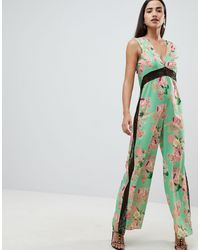 ASOS Jumpsuit With Lace Detail - Green