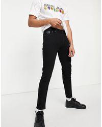 Versace Jeans Couture - Черные Джинсы С Логотипом На Кармане -черный Цвет - Lyst