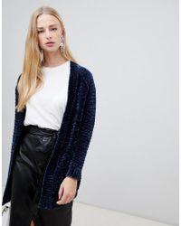 Vero Moda - Chenille Knitted Cardigan - Lyst
