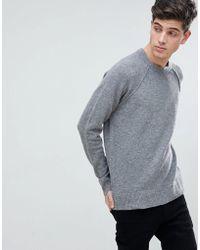 Mango Man Textured Knit Sweater In Grey - Gray