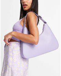 Monki Leona - sac porté épaule en similicuir - lilas - Violet