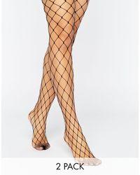 ASOS Set Van2 Oversized Visnetpanty - Zwart