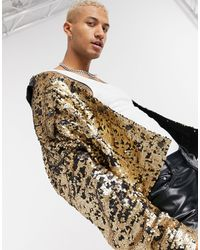 ASOS Oversized Sequin Jacket - Metallic