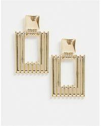 Missguided Doorknocker Gold Earrings - Metallic