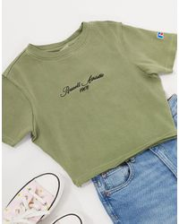Russell Athletic Crop T-shirt - Green