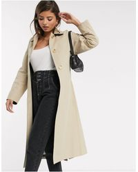 Mango Trench Coat With Back Detail - Natural