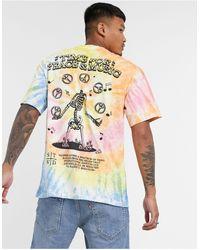 Pull&Bear Tie Dye T-shirt - Multicolour
