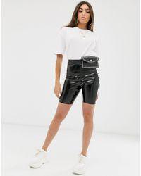 ASOS Vinyl legging Short - Black