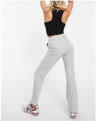 ASOS Flare Sweat Pants With Pintuck - Grey