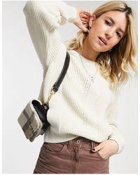 New Look - Белый Джемпер С Декоративной Отделкой - Lyst