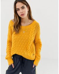 Abercrombie & Fitch Cable Knit Jumper - Yellow