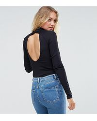 Y.A.S - Colli Open Back High Neck Bodysuit - Lyst