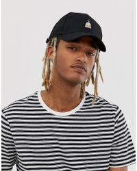 ASOS Baseball Cap In Black With Motif Embroidery